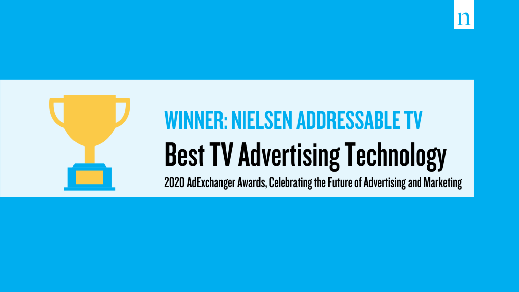 Nielsen Addressable TV wins Best TV advertising technology in 2020 AdExchanger Awards